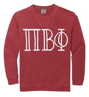 Pi Beta Phi Comfort Colors Greek Crewneck Sweatshirt