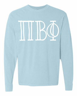 Pi Beta Phi Comfort Colors Greek Long Sleeve T-Shirt