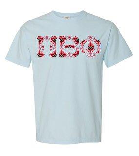 Pi Beta Phi Comfort Colors Lettered Greek Short Sleeve T-Shirt