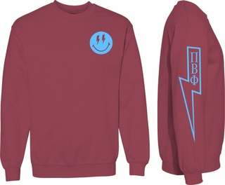 Pi Beta Phi Comfort Colors Lightning Crew Sweatshirt