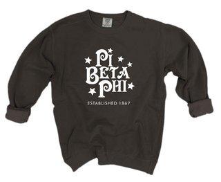 Pi Beta Phi Comfort Colors Old School Custom Crew