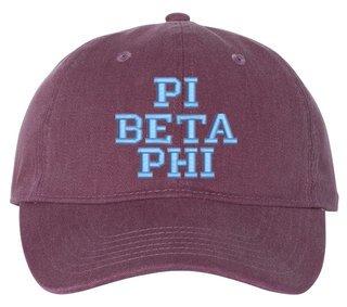 Pi Beta Phi Comfort Colors Pigment Dyed Baseball Cap