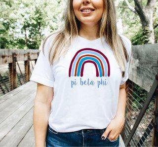Pi Beta Phi Comfort Colors Rainbow Tee