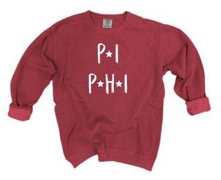 Pi Beta Phi Comfort Colors Starry Night Crew