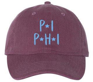 Pi Beta Phi Comfort Colors Starry Night Pigment Dyed Baseball Cap