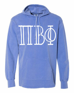 Pi Beta Phi Comfort Colors - Terry Scuba Neck Greek Hooded Pullover