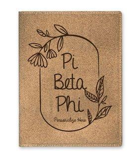 Pi Beta Phi Cork Portfolio with Notepad