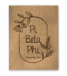Pi Beta Phi Cork Portfolio with Notepad