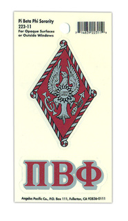 Pi Beta Phi Crest - Shield Decals
