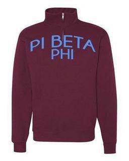 Pi Beta Phi Over Zipper Quarter Zipper Sweatshirt
