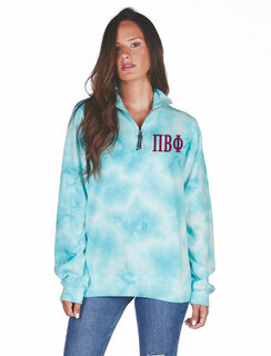 Pi Beta Phi Crosswind Tie-Dye Quarter Zip Sweatshirt