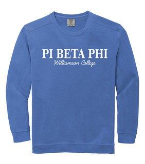 Pi Beta Phi Script Comfort Colors Greek Crewneck Sweatshirt