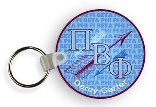Pi Beta Phi Retro Script Keychain