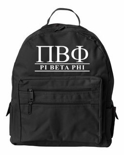 Pi Beta Phi Custom Text Backpack