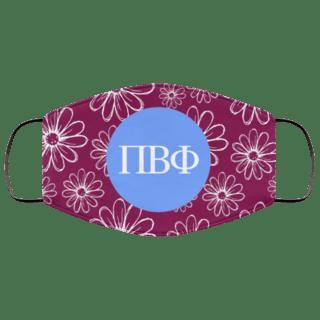 Pi Beta Phi Daisies Face Mask
