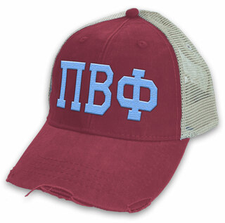 Pi Beta Phi Distressed Trucker Hat