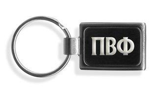 Pi Beta Phi Engraved Chrome Keychains