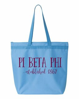 Pi Beta Phi Established Tote bag