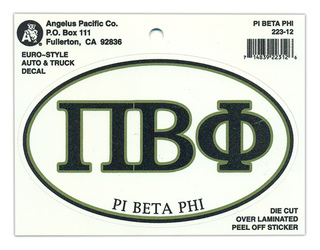 Pi Beta Phi Euro Style Sticker