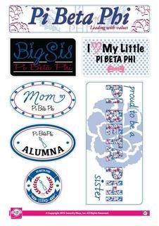 Pi Beta Phi Family Sticker Sheet