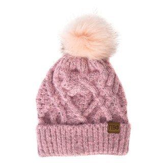 Pi Beta Phi Faux Fur Pom Beanie Hat