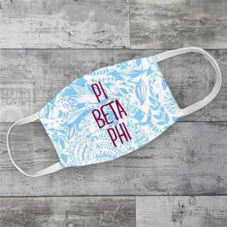 Pi Beta Phi Floral Face Mask