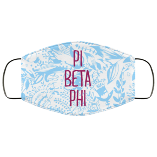 Pi Beta Phi Floral Face Mask