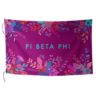 Pi Beta Phi Floral Flag