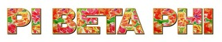 "Pi Beta Phi Floral Long Window Sticker - 15"" long"