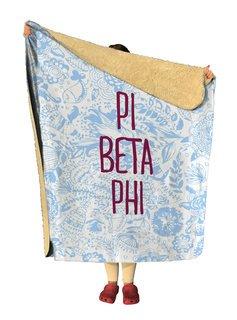 Pi Beta Phi Floral Sherpa Lap Blanket
