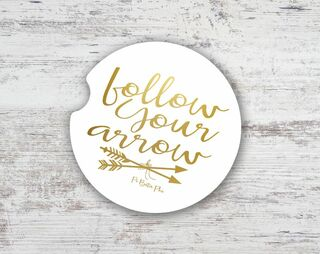 Pi Beta Phi Folow Your Arrow Sandstone Car Cup Holder Coaster
