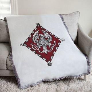 Pi Beta Phi Full Color Crest Afghan Blanket Throw