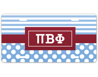 Pi Beta Phi Geometric License Plate
