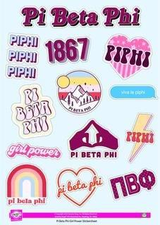 Pi Beta Phi Girl Power Stickers
