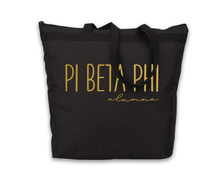 Pi Beta Phi Gold Foil Alumna Tote
