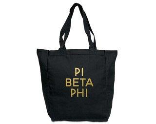 Pi Beta Phi Gold Foil Tote bag
