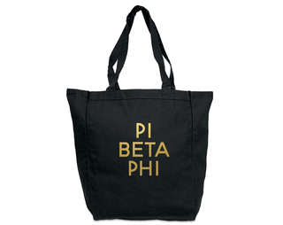 Pi Beta Phi Gold Foil Tote bag