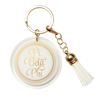 Pi Beta Phi Tassel Key Chain