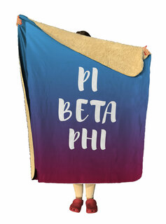 Pi Beta Phi Gradient Sherpa Lap Blanket