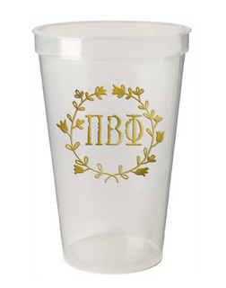 Pi Beta Phi Greek Wreath Giant Plastic Cup