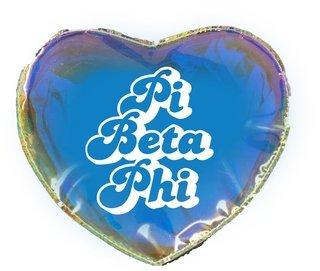 Pi Beta Phi Heart Shaped Makeup Bag