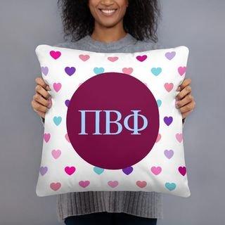 Pi Beta Phi Hearts Pillow