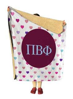 Pi Beta Phi hearts Sherpa Lap Blanket