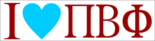 Pi Beta Phi I Love Bumper Sticker