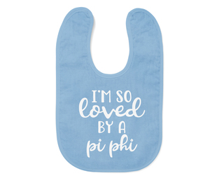Pi Beta Phi I'm So Loved Baby Bib