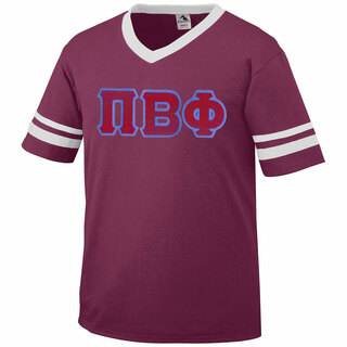 pi beta phi jersey with greek applique letters