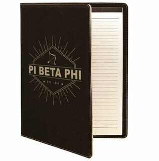 Pi Beta Phi Leatherette Mascot Portfolio with Notepad