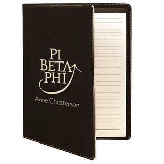 Pi Beta Phi Leatherette Mascot Portfolio with Notepad