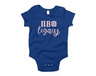 Pi Beta Phi Legacy Baby Outfit Onesie