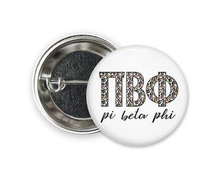 Pi Beta Phi Leopard Button
